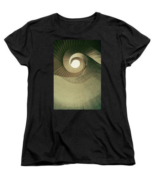 Women's T-Shirt (Standard Cut) featuring the photograph Brown Spiral Stairs by Jaroslaw Blaminsky