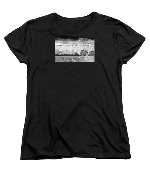 Bubbles And The City Women's T-Shirt (Standard Cut) by John Williams