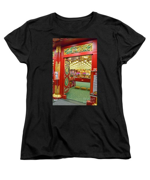 Women's T-Shirt (Standard Cut) featuring the digital art Buddha Tooth Relic Temple And Museum by Eva Kaufman
