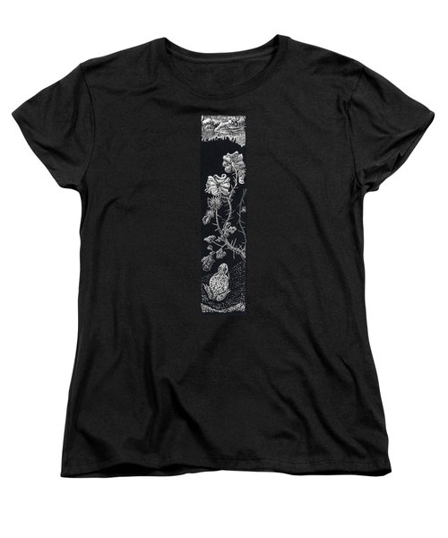 Women's T-Shirt (Standard Cut) featuring the drawing Buffalo Burr And Toad by Dawn Senior-Trask