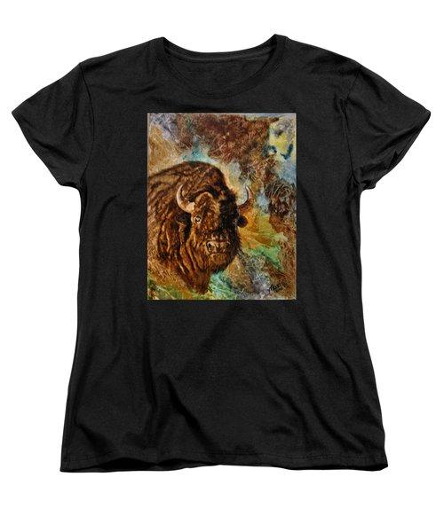 Buffalo Women's T-Shirt (Standard Cut) by Maris Sherwood