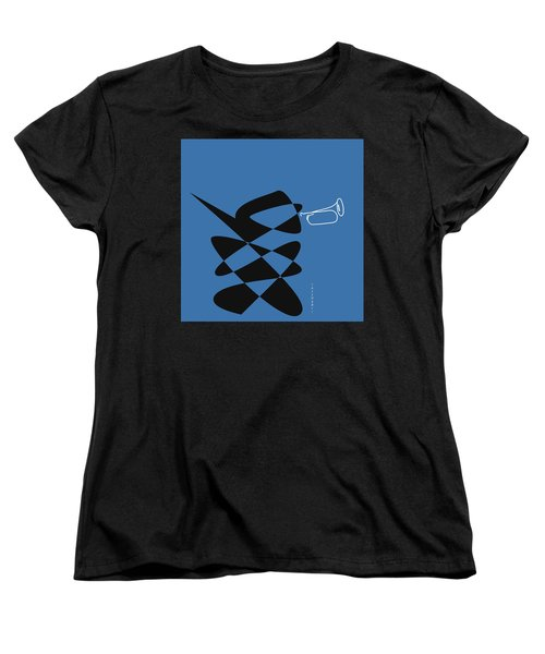 Women's T-Shirt (Standard Cut) featuring the digital art Bugle In Blue by David Bridburg
