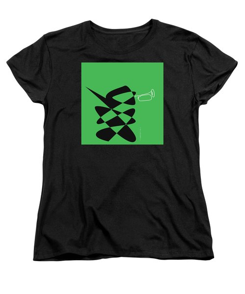 Women's T-Shirt (Standard Cut) featuring the digital art Bugle In Green by David Bridburg