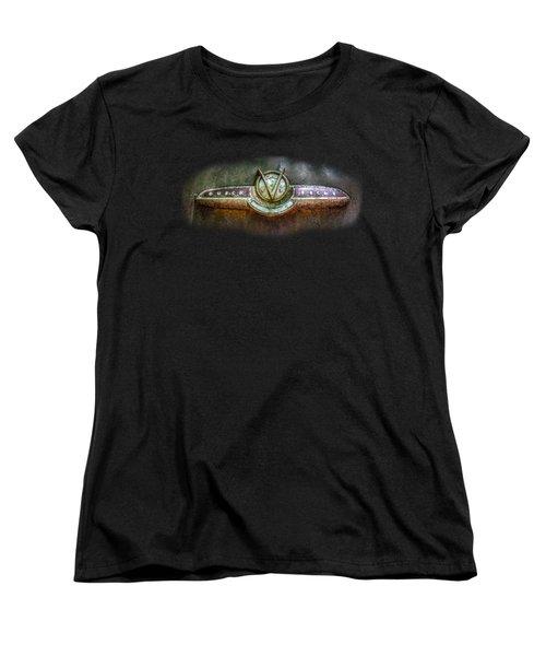 Buick Super Eight Logo Women's T-Shirt (Standard Cut) by Debra and Dave Vanderlaan