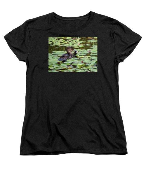 Bullfrog For Breakfast Women's T-Shirt (Standard Cut) by I'ina Van Lawick