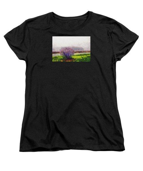 Women's T-Shirt (Standard Cut) featuring the photograph Burning Bush by Spyder Webb