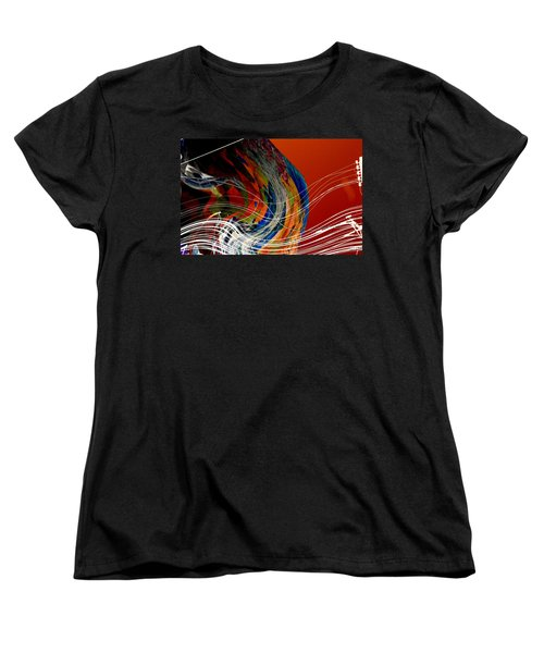 Burning City Sunset Women's T-Shirt (Standard Cut) by Thibault Toussaint