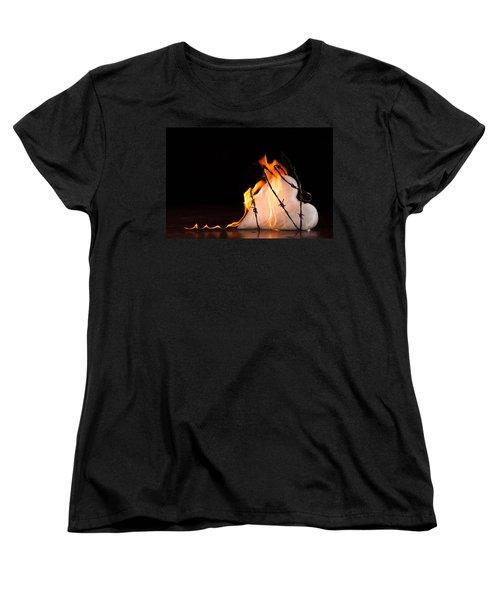 Burning Love Women's T-Shirt (Standard Cut) by Yvette Van Teeffelen