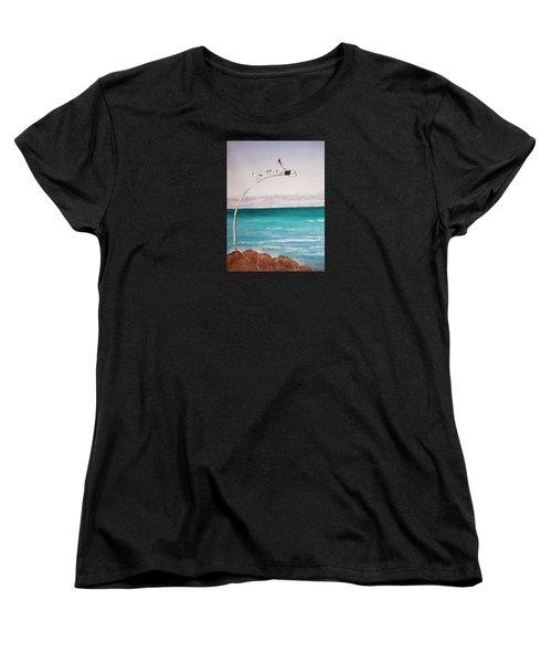 Burns Beach Women's T-Shirt (Standard Cut) by Elvira Ingram