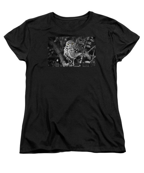 Burrowing Owl  Selective Color Eyes Women's T-Shirt (Standard Cut) by Judy Wanamaker