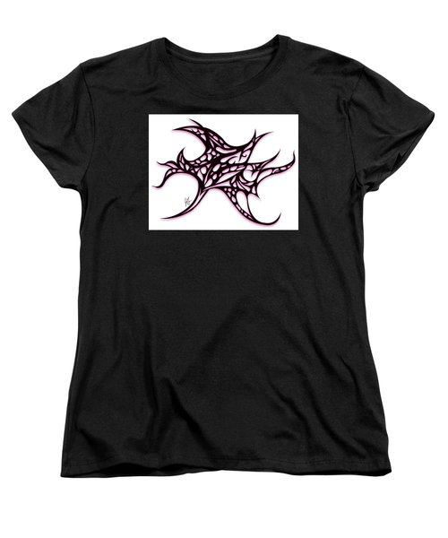 Women's T-Shirt (Standard Cut) featuring the drawing Bushal A Thorns Pink by Jamie Lynn