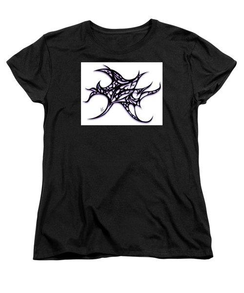 Women's T-Shirt (Standard Cut) featuring the drawing Bushal A Thorns Purple by Jamie Lynn