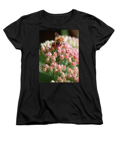 Busy Bee Women's T-Shirt (Standard Cut) by DigiArt Diaries by Vicky B Fuller