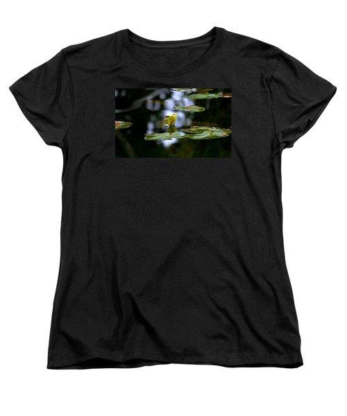 Butterfly Lily Pad Women's T-Shirt (Standard Cut) by Jeanette C Landstrom
