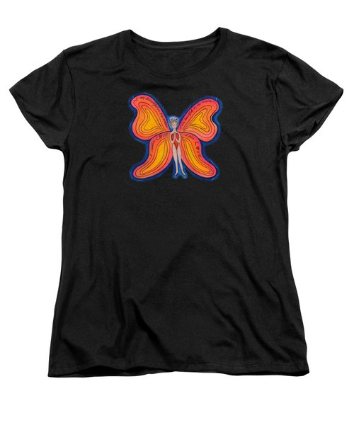 Butterfly Mantra Women's T-Shirt (Standard Cut) by Deborha Kerr