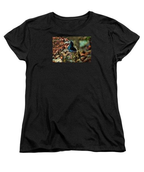 Women's T-Shirt (Standard Cut) featuring the photograph Butterfly Rock by Rick Friedle