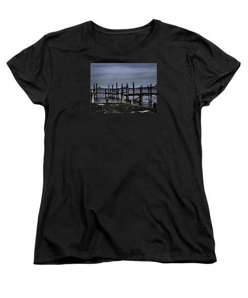 By The Sea Women's T-Shirt (Standard Cut) by Mikki Cucuzzo