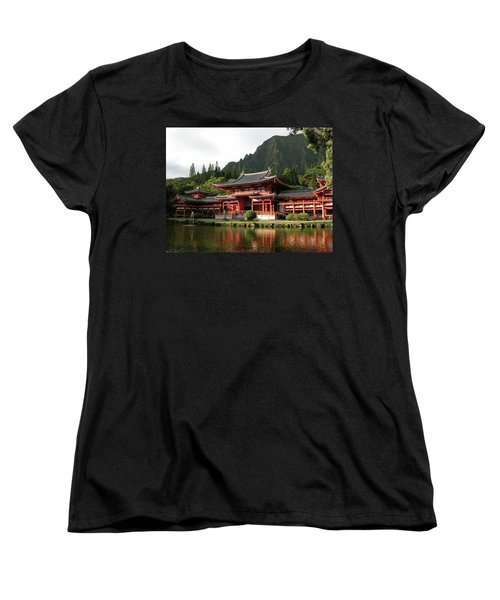 Women's T-Shirt (Standard Cut) featuring the photograph Byodo-in Temple, Oahu, Hawaii by Mark Czerniec