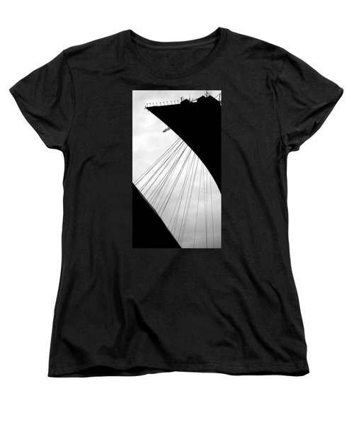 Women's T-Shirt (Standard Cut) featuring the photograph Cables And Funes by Valentino Visentini