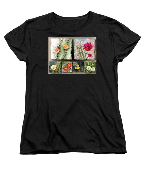Women's T-Shirt (Standard Cut) featuring the painting Cactus Collage 10 by Marilyn Smith