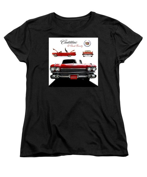 Women's T-Shirt (Standard Cut) featuring the photograph Cadillac 1959 by Gina Dsgn