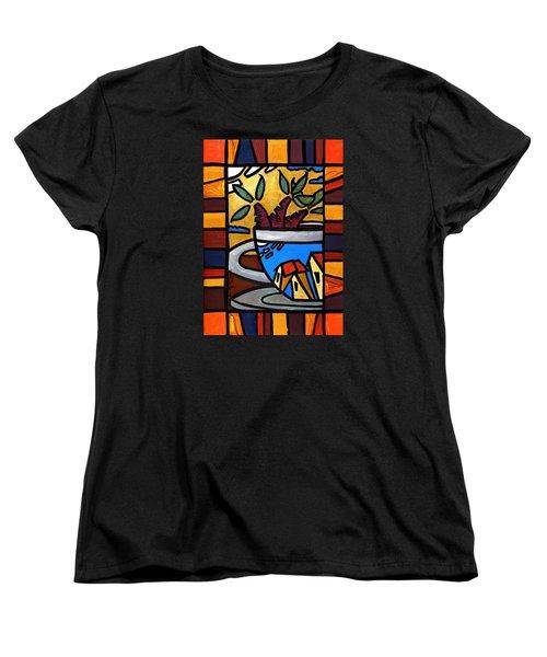 Cafe Caribe  Women's T-Shirt (Standard Cut) by Oscar Ortiz