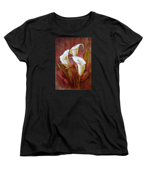Cala Lillies Bouquet Women's T-Shirt (Standard Cut) by J- J- Espinoza