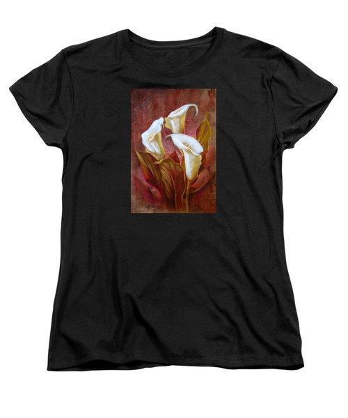 Cala Lillies Bouquet Women's T-Shirt (Standard Cut)