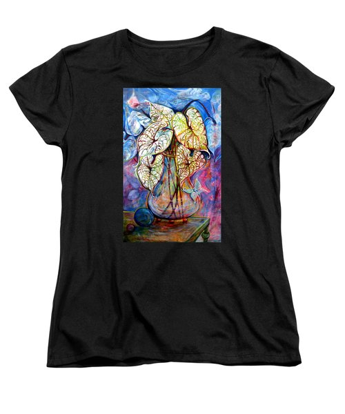 Caladium Glass Creation Women's T-Shirt (Standard Cut)