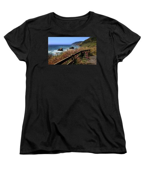Women's T-Shirt (Standard Cut) featuring the photograph California Coast by Joseph G Holland