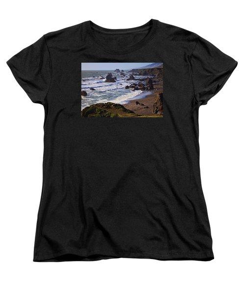 California Coast Sonoma Women's T-Shirt (Standard Cut) by Garry Gay