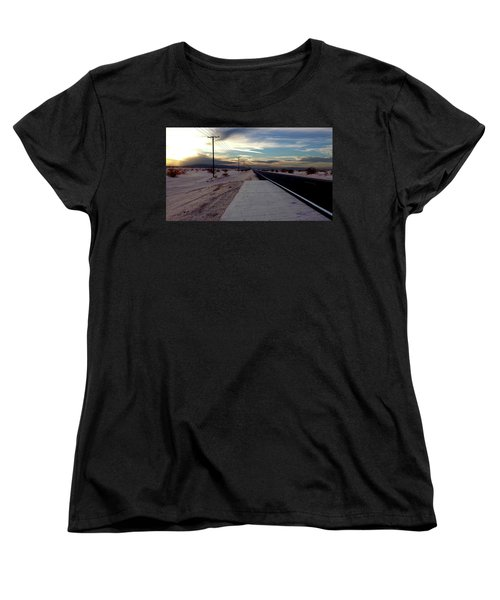 California Desert Highway Women's T-Shirt (Standard Cut) by Christopher Woods