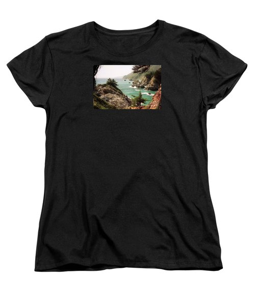 California Highway 1 Coast Women's T-Shirt (Standard Cut) by Ted Pollard