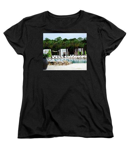 Caliza Pool In Alys Beach Women's T-Shirt (Standard Fit)