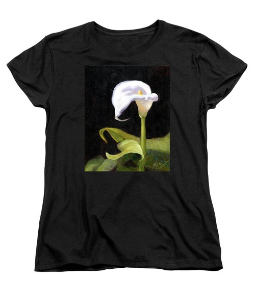 Calla Lily Women's T-Shirt (Standard Cut) by Alice Leggett