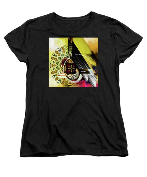 Women's T-Shirt (Standard Cut) featuring the painting Calligraphy 103 2 1 by Mawra Tahreem