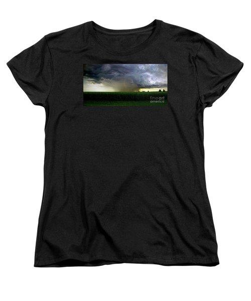 Calm Before The Storm Women's T-Shirt (Standard Cut) by Sue Stefanowicz