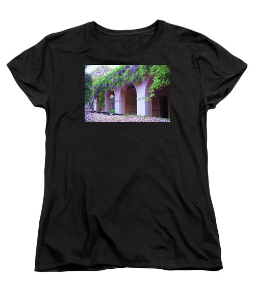 Caltech Wisteria Women's T-Shirt (Standard Cut) by Ram Vasudev