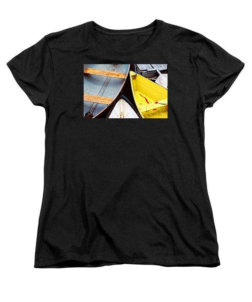 Women's T-Shirt (Standard Cut) featuring the photograph Camden Dories Photo by Peter J Sucy
