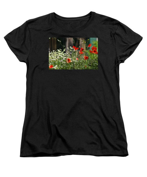 Camille And Poppies Women's T-Shirt (Standard Cut) by Rainer Kersten