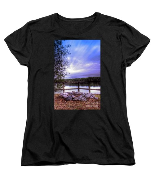 Women's T-Shirt (Standard Cut) featuring the photograph Camp Ground by Maddalena McDonald