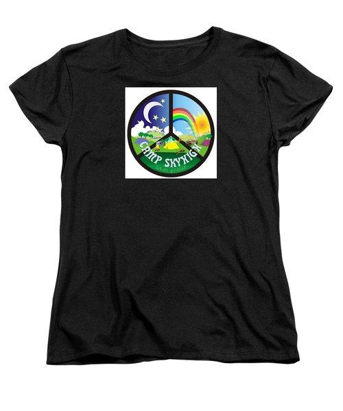 Women's T-Shirt (Standard Cut) featuring the drawing Camp Skyhigh by Karen Musick