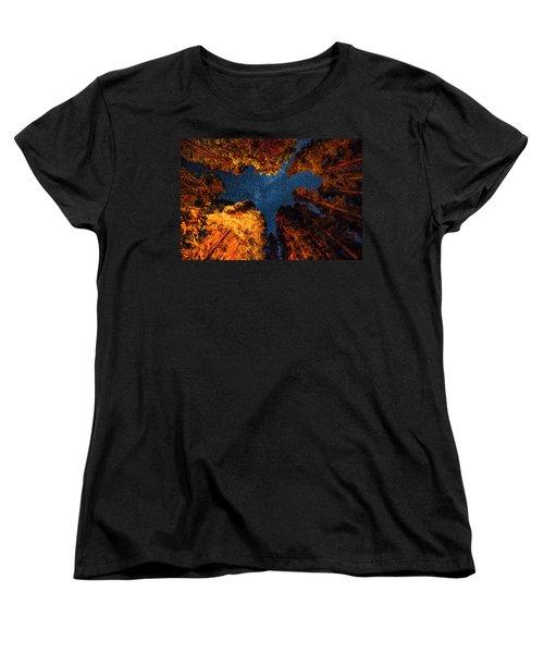 Camping Under The Stars  Women's T-Shirt (Standard Cut) by Alpha Wanderlust