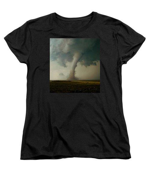 Campo Tornado Women's T-Shirt (Standard Cut) by Ed Sweeney