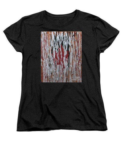 Women's T-Shirt (Standard Cut) featuring the painting Canada Cries by Cathy Beharriell