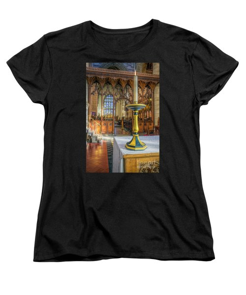 Women's T-Shirt (Standard Cut) featuring the photograph Candle Of  Prayer by Ian Mitchell