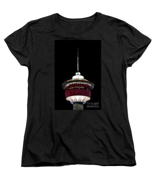 Women's T-Shirt (Standard Cut) featuring the photograph Candy Cane Tower by Brad Allen Fine Art