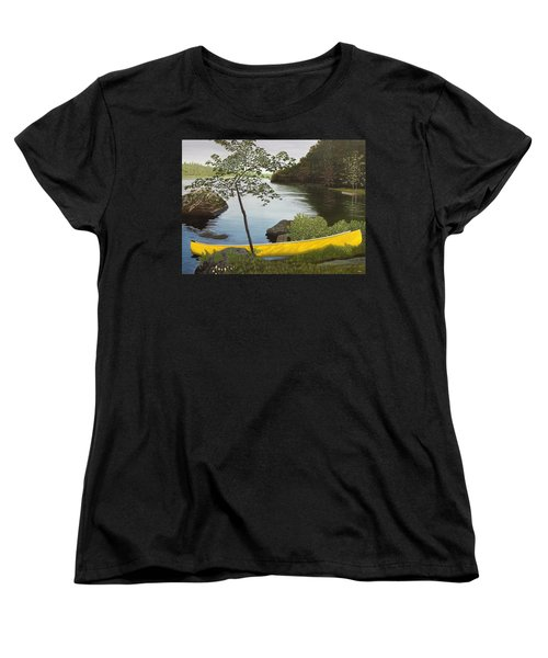 Canoe On The Bay Women's T-Shirt (Standard Cut) by Kenneth M  Kirsch