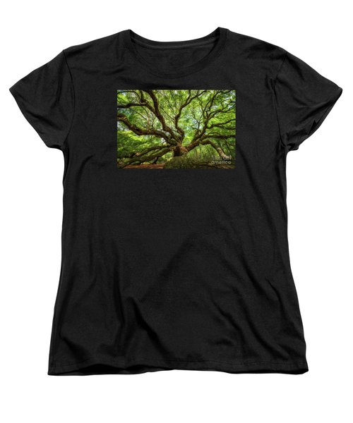 Canopy Of Color At Angel Oak Tree  Women's T-Shirt (Standard Cut) by Michael Ver Sprill