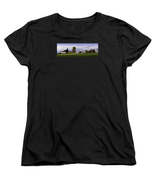 Women's T-Shirt (Standard Cut) featuring the photograph Canterbury Shaker Village Nh by Betty Denise